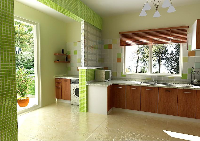 Contemporary Residential Architecture kitchen interior in Nigeria
